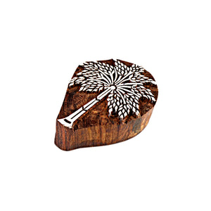 Tree Pattern Wooden Printing Blocks (Set of 3)