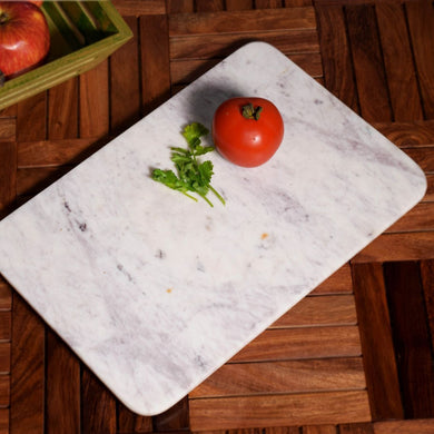 Marble Stone Chopping Board | White