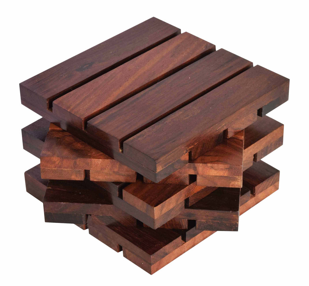 Sheesham Wood Designer Coasters for Dining Table