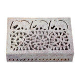 Handcrafted Floral Craved Jewellery Box (6x4 Inch)