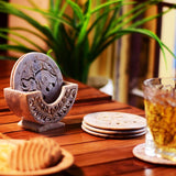 Hand Carved Soapstone Coasters Set 6 Piece