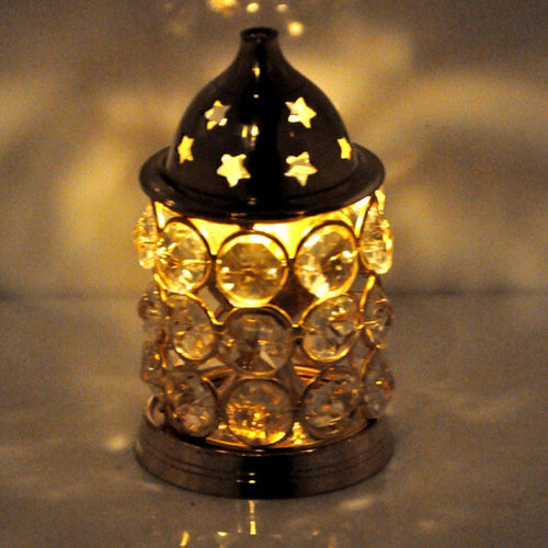 Decorative Akhand Brass Oil Lamp | Small