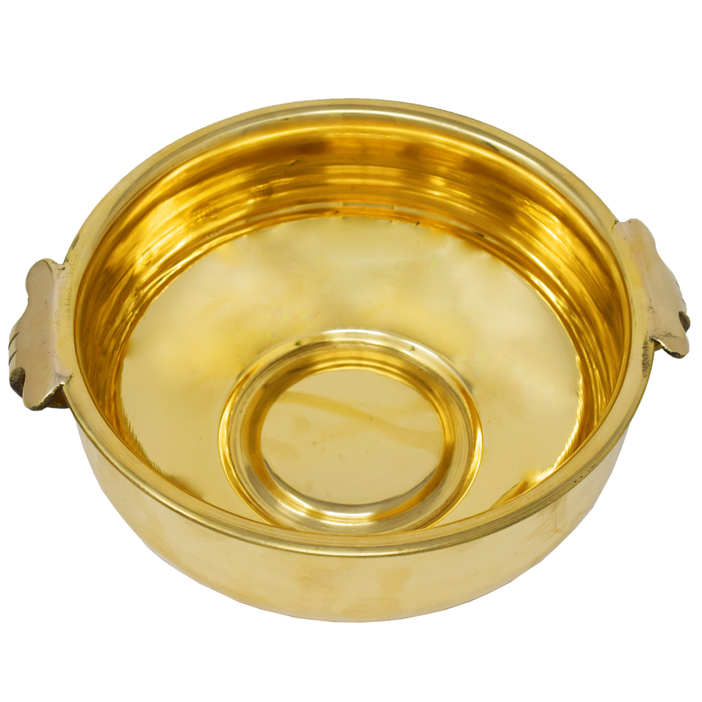 Handcrafted Brass Uruli Bowl For Home Décor | Gold