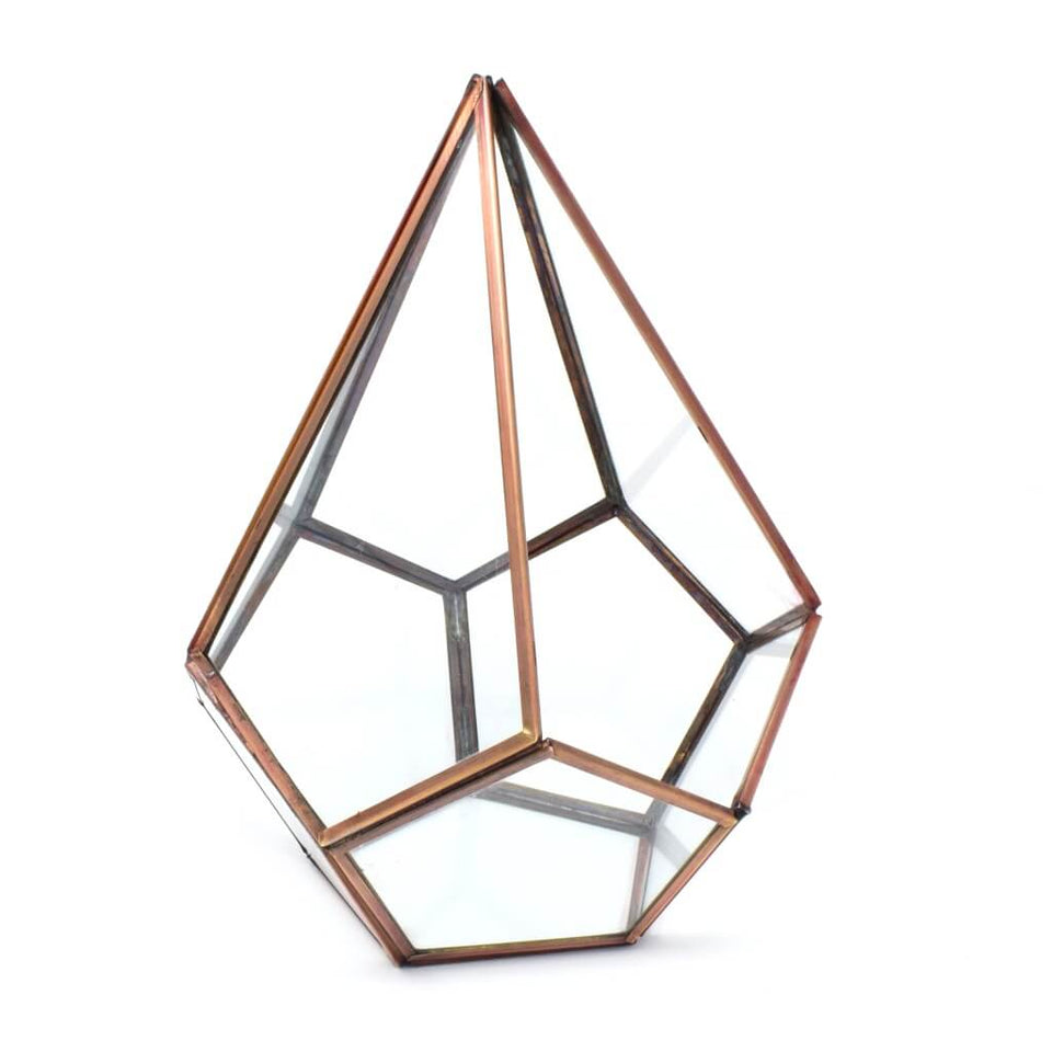 Pyramid Glass Terrarium Votive Candle Holder