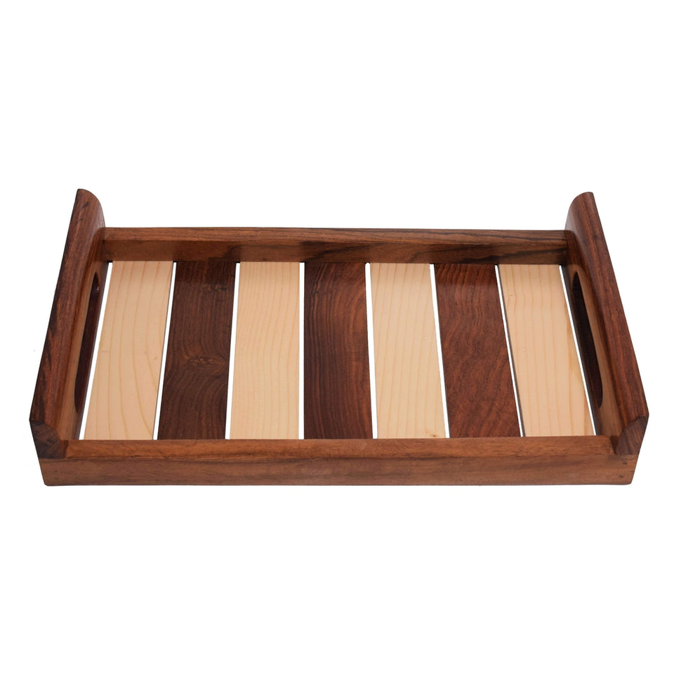 Sheesham Wooden Seving Tray For Kitchen (10x6) Inch