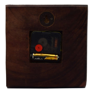 Wooden Wall Clock with Sweep (Silent) Movement (6 Inch)