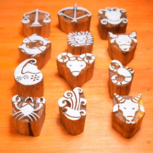 Wooden Astrology Horoscope Design Printing Blocks