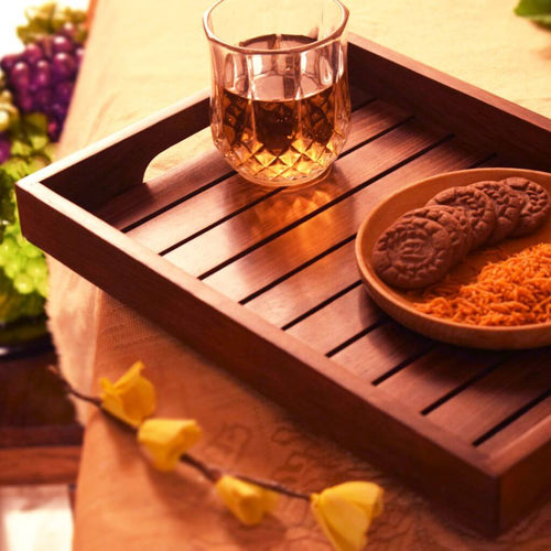 Handmade Wooden Serving Tray For Dining Table(14x10) Inch