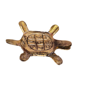 Brass Turtle Good Luck Charm