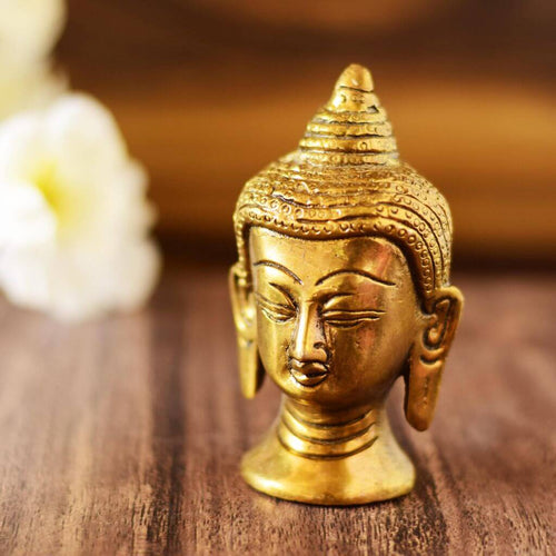 Antique Brass Lord Buddha Statue