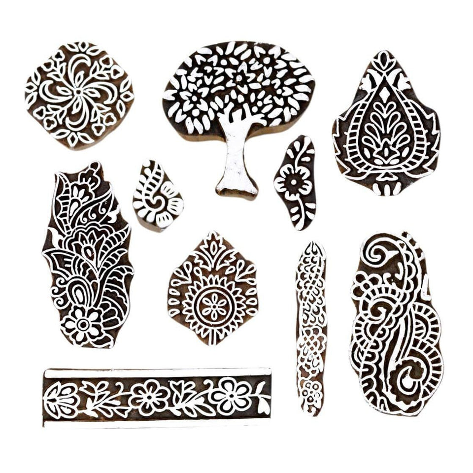 Wooden Stamps for Textile Block Printing