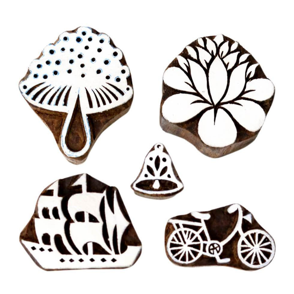 DIY Stamps of Indian Sheesham Wood
