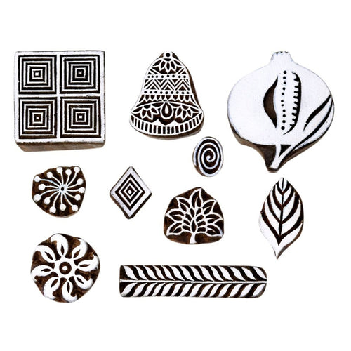 Indian Handicraft Sheesham Wood Stamping Blocks