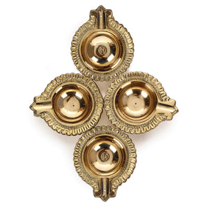 Handmade Indian Puja Brass Oil Lamp Diya - 80 Grams