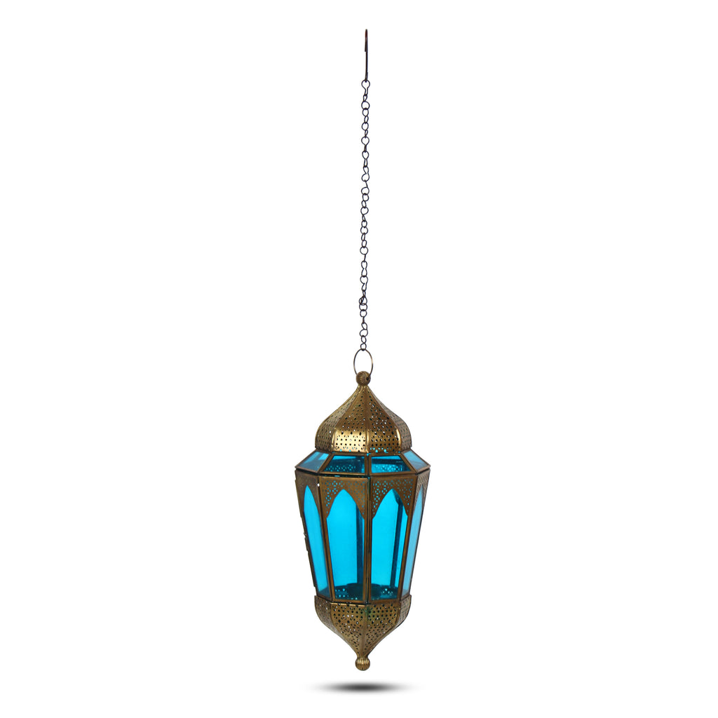 Iron Metal Glass Moroccan Hanging Lantern Tealight Candle Holders