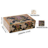 Adorable Marble Floral Engraved Jewellery Box (6x4 Inch)