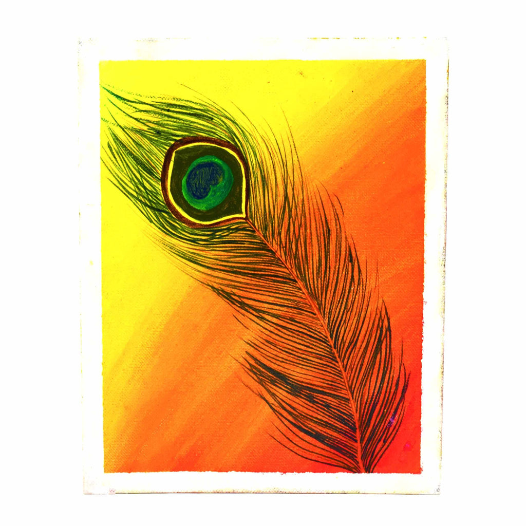 peacock feather painting online