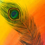 buy peacock feather painting