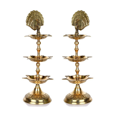 Brass Panchmahal Oil Lamp Diya