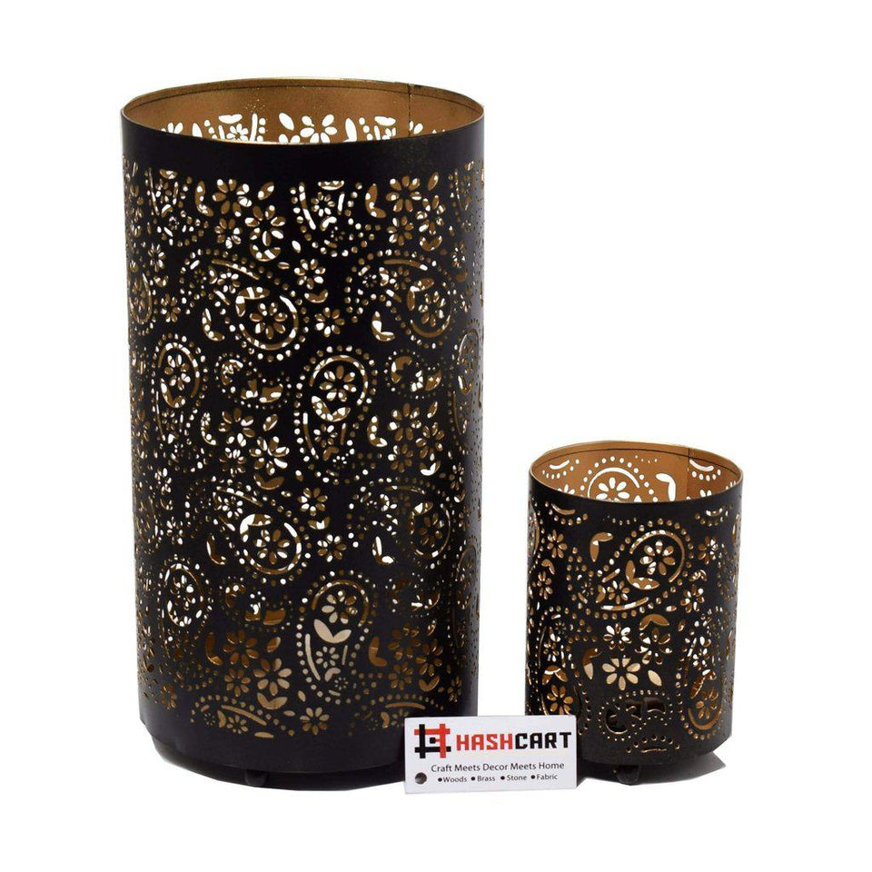 Shadow Votive Tea Light Candle Holder (Set of 2)-Tealight Candle Holder-Hashcart