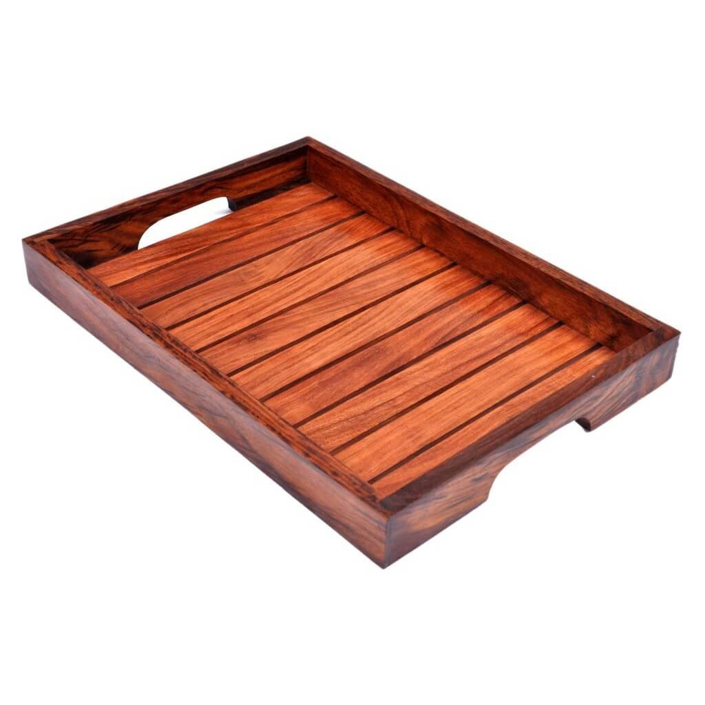 Handcrafted Wooden Tray Set For Your Kitchen (Set of 3)