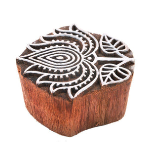 Handmade Sheesham Wood Printing Blocks / Stamps - Printing Stamp