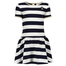 Load image into Gallery viewer, Lè Chic - Navy & Cream Striped Dress
