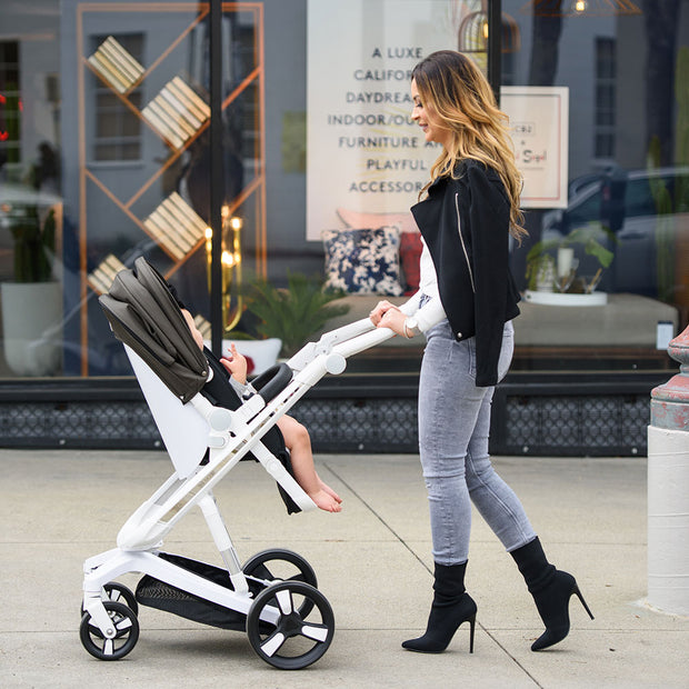 Black Milkbe Lullaby Stroller - Luxury Stroller