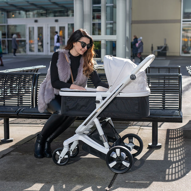 Beige Milkbe Carry Cots for Luxury Milkbe Strollers