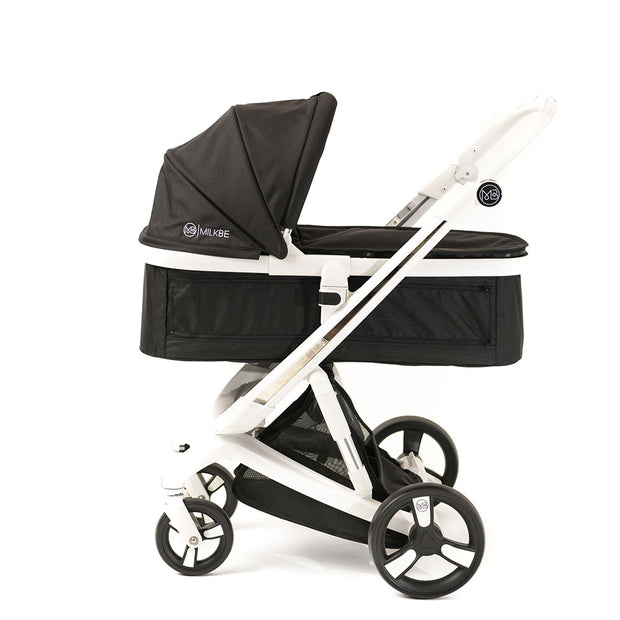 Black Milkbe Carry Cot for Luxury Milkbe Strollers