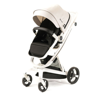 Beige Milkbe Lullaby Stroller - Luxury Self Stopping Stroller
