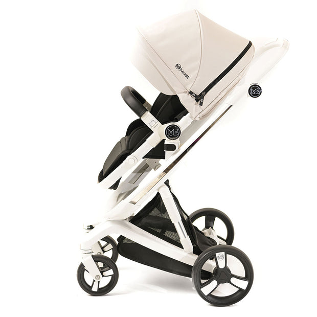 Beige Milkbe Lullaby Stroller - Folding Self Stopping Stroller