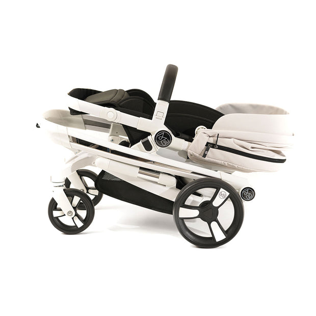 Beige Milkbe Lullaby Stroller - Easy to Fold Self Stopping Stroller
