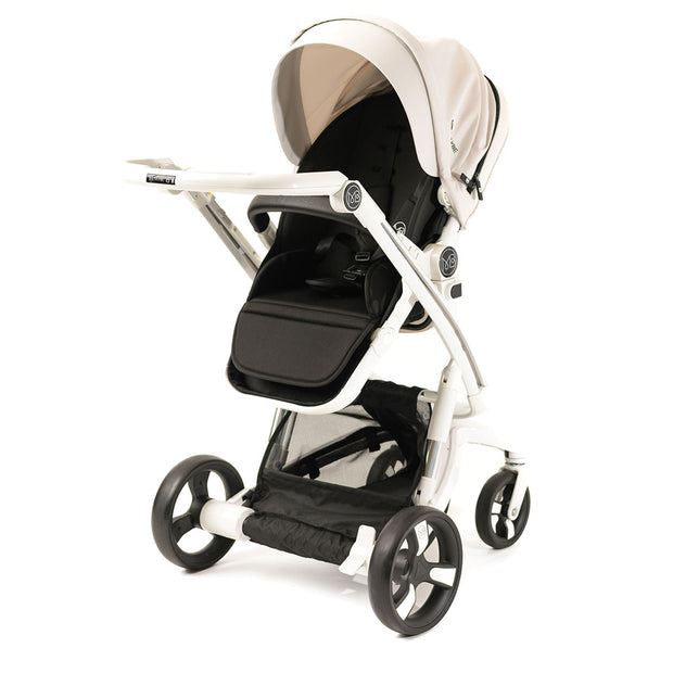 Beige Milkbe Lullaby Stroller - Stylish Self Stopping Stroller