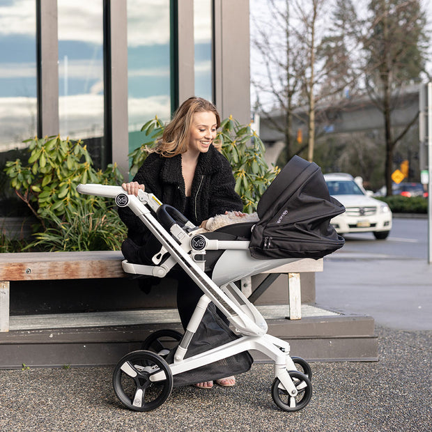 Black Milkbe Lullaby Stroller - Folding Self Stopping Strollers