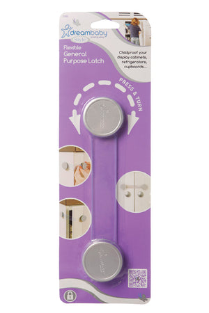 Dreambaby DB01009 (30) General Purpose Latch - Silver