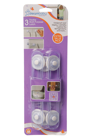 Dreambaby DB00186 (30) Multi-Purpose Latch 3pk