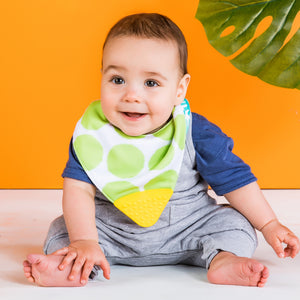 Bright Starts BS12093 (0) Drool & Teethe Bandana Reversible Teether Bandana