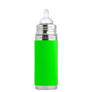 Pura PR250ITM/G 250ml Insulated Feeding Bottle Med Teat & Sleeve - Green
