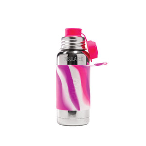 Pura PR475ISP/PKS 475ml Insulated Sports Bottle & Sleeve - Pink Swirl