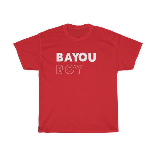 Bayou Boy White Unisex Heavy Cotton Tee