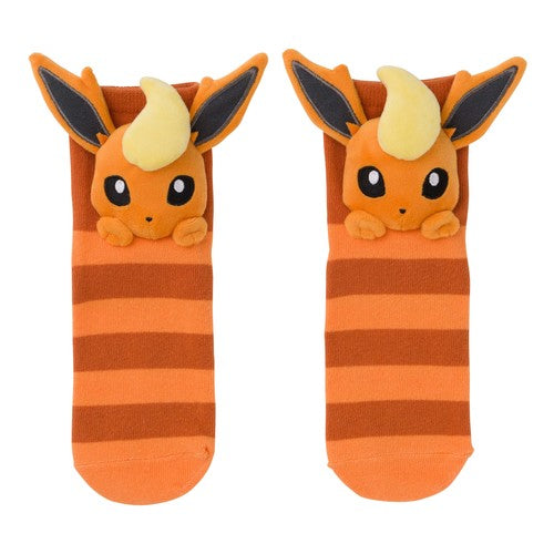 Eeveelution Faces - Flareon (Short Socks)