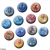 Kingdom Hearts Stained Glass Tin Badge Collection