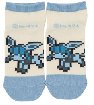Glaceon Pixel Art Short Socks