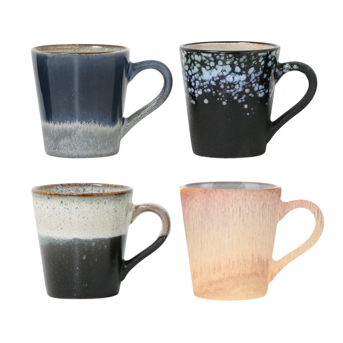 Ceramic 70's Espresso Mugs (set of 4)