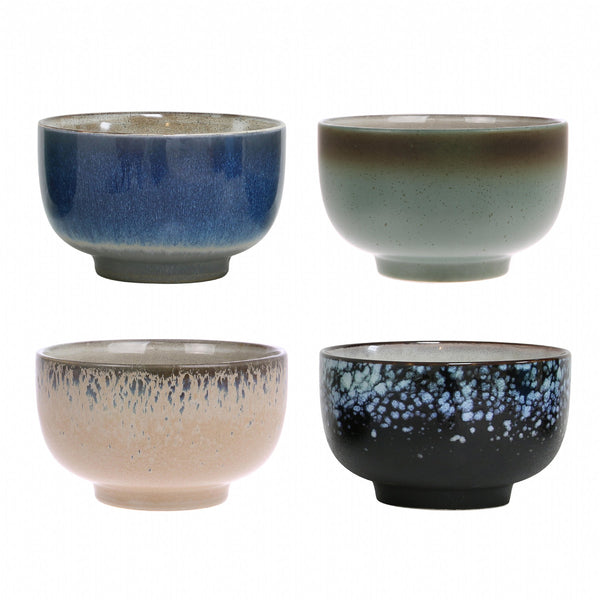 Ceramic 70's Bowls (set of 4)