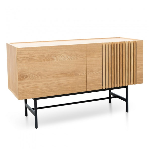 Buffet Unit - Natural with Black Legs (120cm)