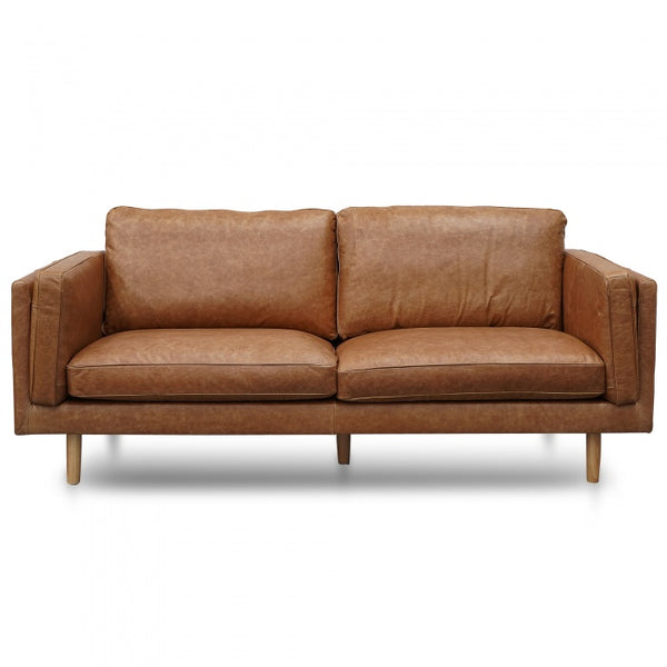 3 Seater Sofa - Tan Leather