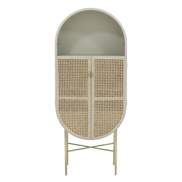 Retro Oval Cabinet | Light Grey