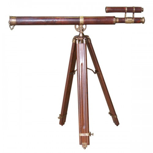 Double Barrel Leather Telescope